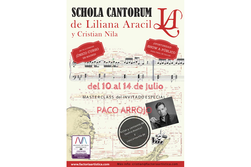 SCHOLA CANTORUM en Madrid: Curso intensivo en julio
